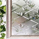 Hoonng Pellicola per Vetri Finestre non Adesiva, Adesione Elettrostatica 44.5cm x 200cm