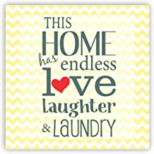 Yaya Cafe™ Home Has Endless Love Home Printed Fridge Magnet - Square