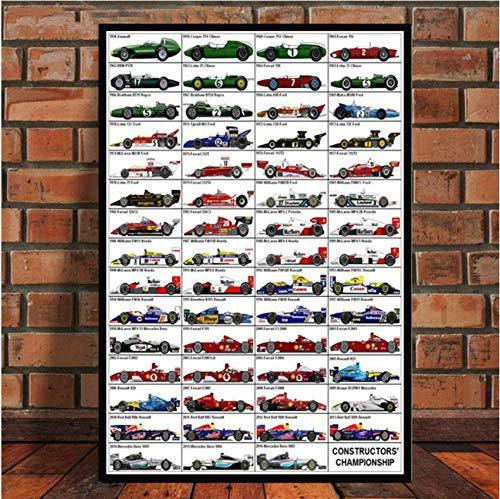 Impresiones De Carteles Pintura Artística Fórmula 1 Coches De Carreras Pilotos Mundiales Ayrton Senna Cuadros De Pared para Sala De Estar Decoración para El Hogar 50 × 70 Cm Sin Marco