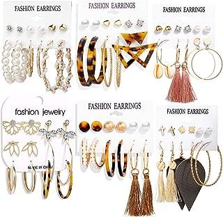 36 Pairs Fashion Tassel Earrings Set for Women Girls...
