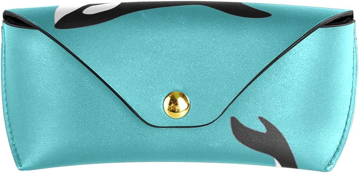 Multiuse Whale Killer Ocean Animal Goggles Bag Portable PU Leather Sunglasses Case Eyeglasses Pouch present