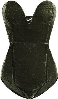 Best green velvet corset Reviews