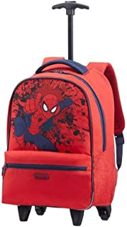Marvel Legends Junior - Mochila infantil con ruedas, 22 litros, diseño de Spiderman Action