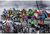 Rompecabezas Familiar Para Adultos Puzzle Rompecabezas Liga de la Justicia SuperWooden rompecabezas rompecabezas de 1000 piezas for el adulto y Niños Educativo pared juguete Pintura Decoración SYCEZHI