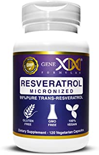 Genex 99% Trans Resveratrol Capsules 1000mg Serving Pure Micronized Pharmaceutical Grade Trans-Resveratrol Made in a GMP &...