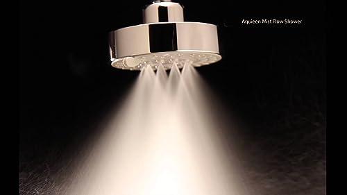 "Aquieen H2Micro 4"" Round 5 Function Mist & Rain Overhead Shower product image"