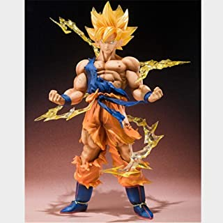 Asdfnfa Toy Model Anime Super Saiyan Goku Character Crafts Cartoon Statue Anime Crafts Exquisite Gifts 15cm