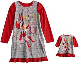 Elf on The Shelf Merry and Bright Dorm Nightgown & Doll Gown