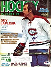 Guy Lafleur Signed Magazine Cover Canadiens - PSA/DNA Authentication - NHL Hockey Memorabilia