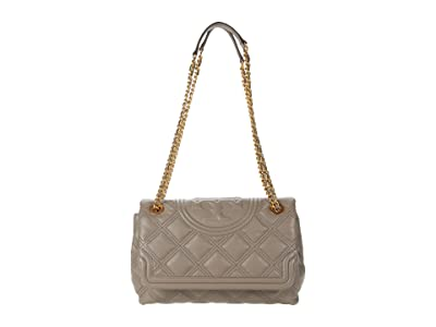 Tory Burch Fleming Soft Convertible Shoulder Bag (Gray Heron) Handbags