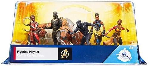 Disney Marvel Comics noir Panther 6 Piece Figure Play Set