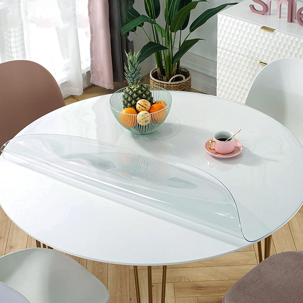 Royhom Upgrade Version 1.5mm Thick famous 46 Clear Max 47% OFF Round C Inches Table