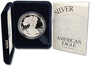 2001 W Proof American Eagle Silver Dollar with Original Packaging and COA $1 PR DCAM US Mint