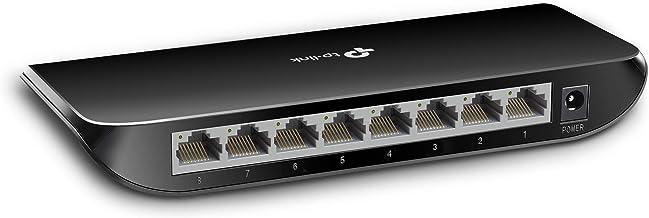 TP-Link 8-poorts Desktop Gigabit Switch, 8 10/100 / 1000M RJ45-poorten, plastic behuizing (TL-SG1008D)