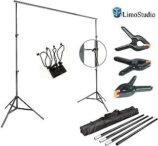 LimoStudio Photo Video Studio 10Ft Adjustable Muslin Background Backdrop Support System Stand
