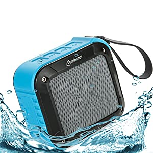 Wireless Bluetooth 4.1 Speaker Best Shockproof Waterproof Shower Speakers with 10 Hour Rechargeable Battery Life, Powerful 5W Audio Driver, Pairs with All Bluetooth Devices