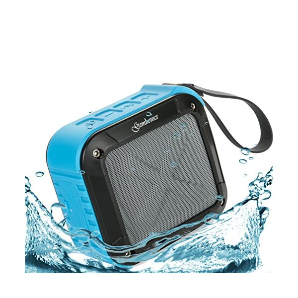 Wireless Bluetooth 4.1 Speaker Best Shockproof Waterproof Shower Speakers with 10 Hour Rechargeable Battery Life, Powerful 5W Audio Driver, Pairs with All Bluetooth Devices 4