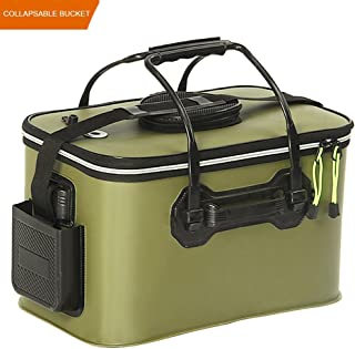 EVA Fishing Bucket Bait Bucket Collapsible Camping Hiking Water Container Pan Car Wash Basin Tackle Storage Bags Boxes Water Storage Bucket Organizers on Boat Backpacking