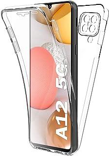 XCYYOO Coque pour Samsung Galaxy A12,【Version améliorée 2021】 360 Degré Transparent TPU Coque Silicone Souple Avant et Arr...