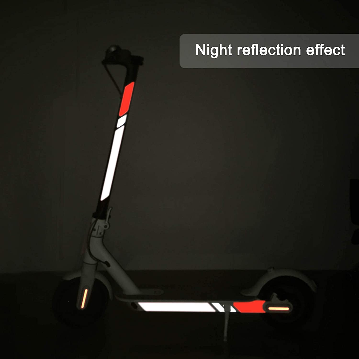 TOMALL Sctooer Reflective Sticker Waterproof Reflective Side Sticker Fluorescent Decal for Xiaomi Mijia M365 Electric Scooter