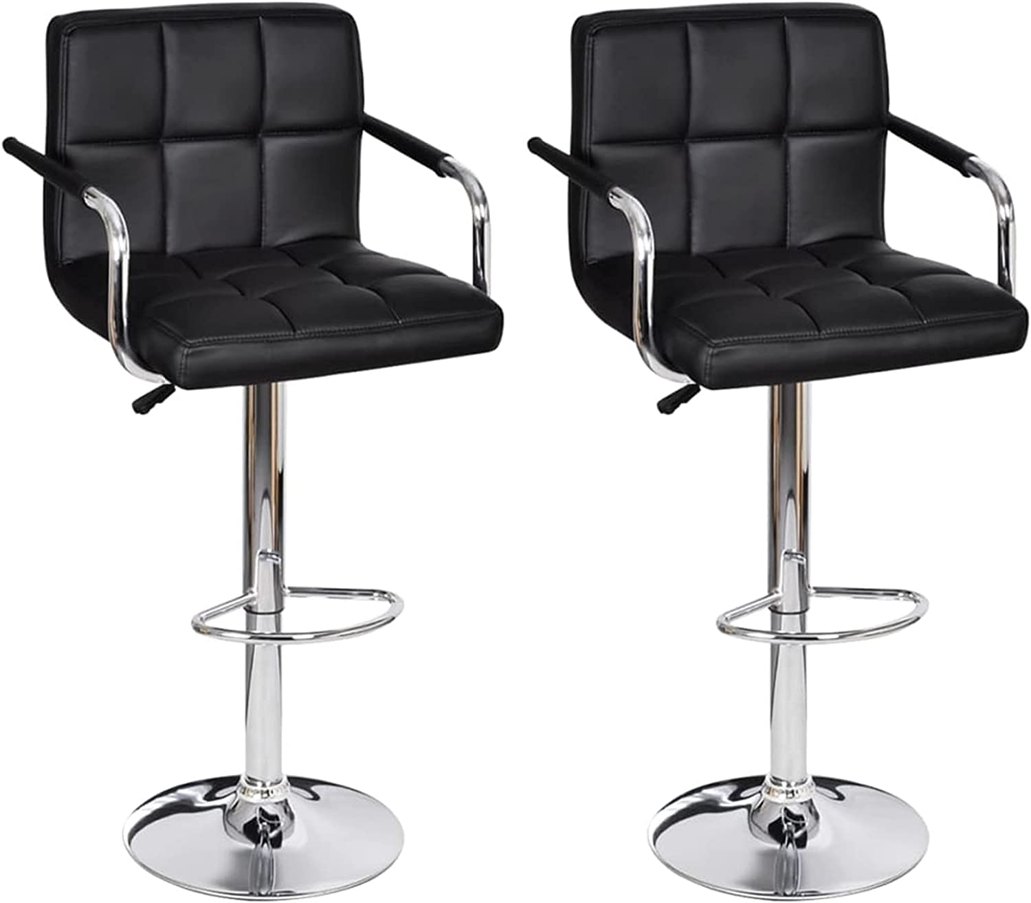 Tidyard 2 Piece Bar Free shipping on posting reviews El Paso Mall Stools Adjustable Faux Height Barsto Leather