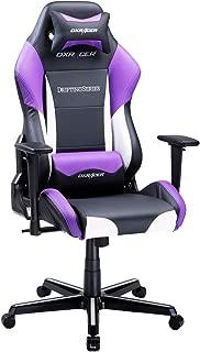 DXRacer USA Drifting Series OH/DM61/NWV Gaming Chair Computer Chair Office Chair Ergonomic Design Swivel Tilt Recline Adjustable with Tilt Lock, Includes Headrest Pillow and Lumbar Cushion (Purple)