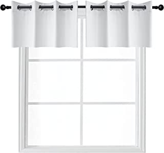 YGO Window Curtain Valances Grommet Top Small Curtains for Kitchen and Bathroom Room Darkening Home Decoration 52 x 18 inc...