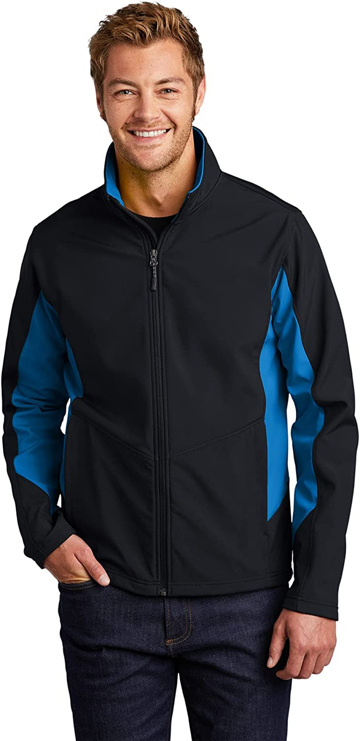 Port Authority Core Colorblock Soft Shell Jacket 2XL Black/ Imperial Blue
