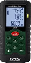 Extech DT60M Laser Distance Meter, Measurements up to 196 feet, Backlit LCD Display, Integrated Pythagorean Theorem, 20 Po...