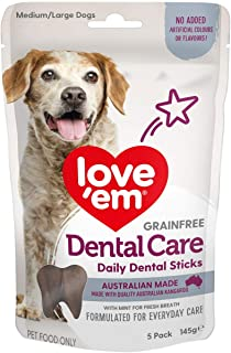 Love Em Dental Care Sticks Dog Treats Medium Large 145g