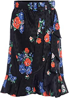 Tory Burch Woman's Blue Silk Skirt with Floral Print