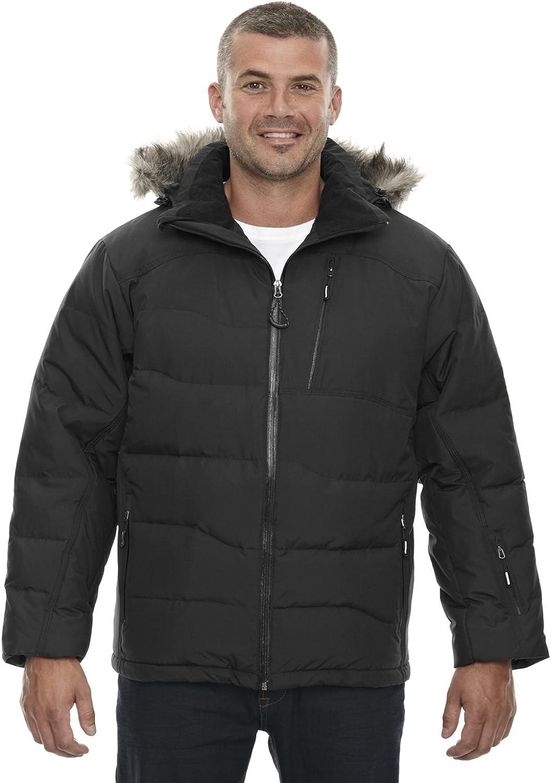 North End Boreal Down Jacket with Faux Fur Trim (Black XL)