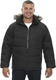 North End Men's Boreal Down Jacket with Faux Fur Trim