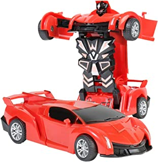 Deformation Car Robot Toy For Kids Light Durable Children Collision Car Toy