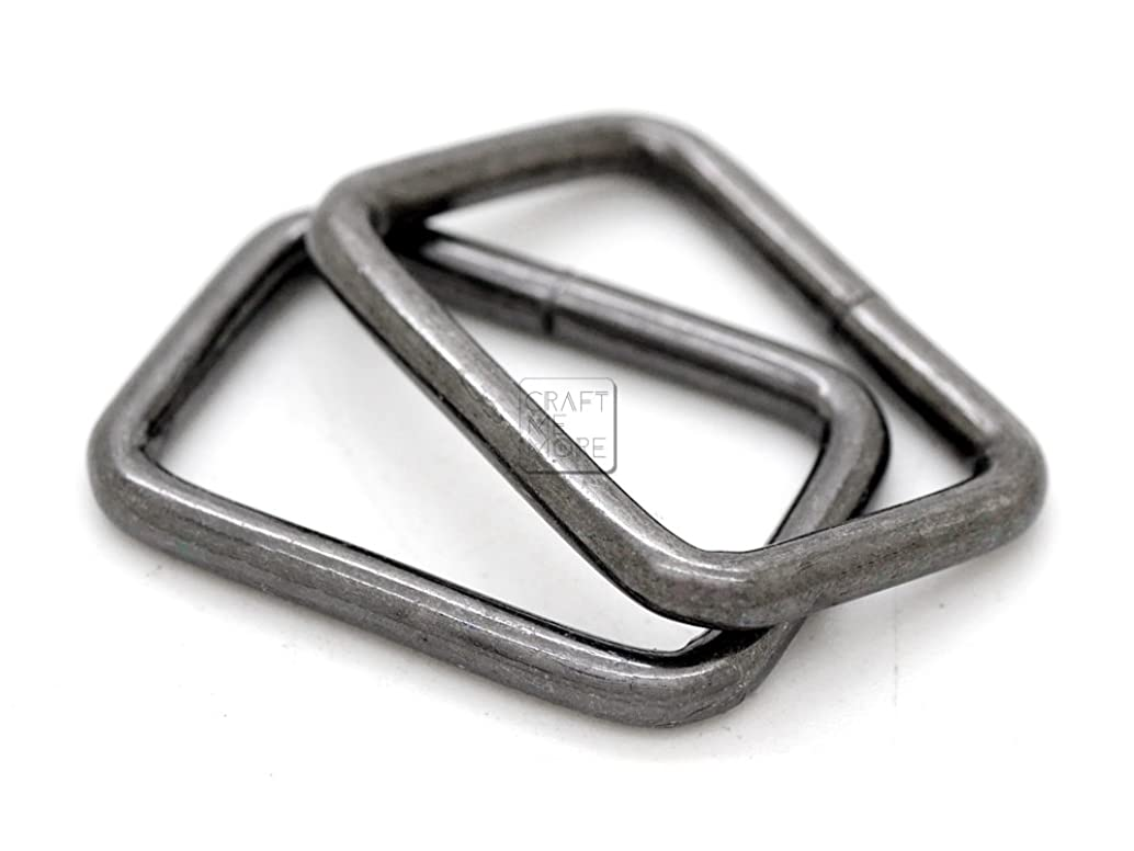 CRAFTMEmore Metal Rectangle Buckle Ring for Bag Belt Loop Strap Heavy Duty Rectangular Cord fits Webbing 5/8