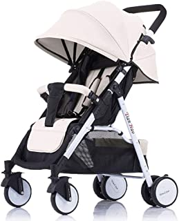 Lightweight Pushchair Four Wheel,Stroller,Prams,Baby Carriage,with Reclining Backrest Light Buggy,with One Hand Fold,Bumper Bar,Suitable from Birth to 30kg
