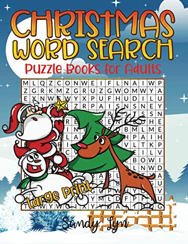 Christmas Word Search Books for Adults Large Print: 600 Christmas & Winter...