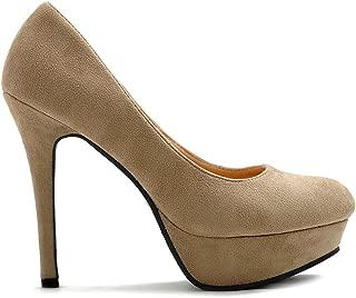 Women's Shoe High Heel Platform Faux Suede Multi Color Pump