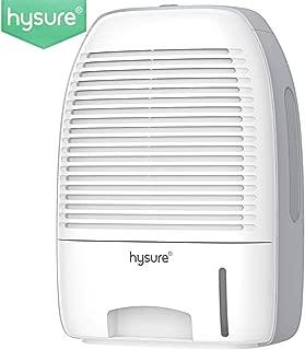 Hysure Portable Mini Dehumidifier 2200 Cubic Feet Electric Safe Dehumidifier for Bedroom, Home, Crawl Space, Bathroom, RV, Baby Room