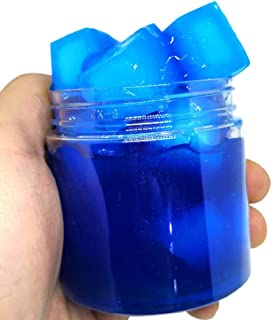 Ulanda Amazing Jelly Cube Slime,100ml Super Squishy Scented Stress Reliever Clay Toy (Blue)