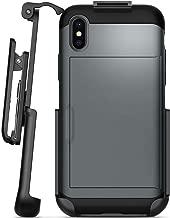 Encased Belt Clip Holster Compatible with Spigen Slim Armor CS Case - iPhone X/iPhone Xs (case not Included)