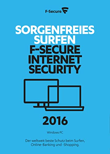 F-Secure Internet Security 2016 - 1 Jahr / 3 PCs [Online Code]