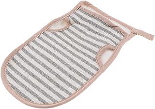 D DOLITY Soft Adults Body Deep Cleaning Scrub Mitt Shower Exfoliator Bath Glove Dead Skin Removal Tool - Gray