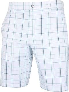 Golf 2019 Fashion Plaid Flat Front Mens Stretch Golf Shorts