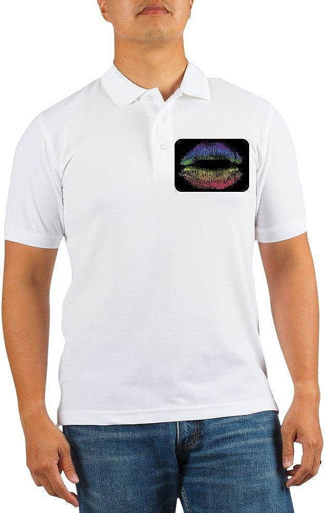 Royal Lion Great interest Indianapolis Mall Golf Shirt Gay Pride Lips Flag Rainbow
