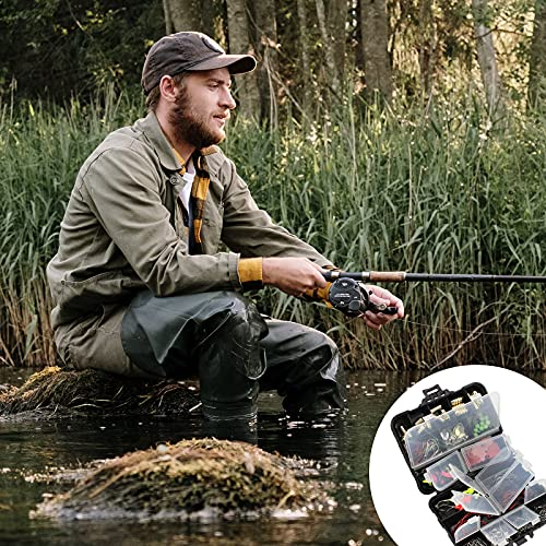 Jodsen Assorted Carp Fishing Tackle Kit in Box,128 Pcs Fishing Accessories Set,Include Fishing Hooks,Connector,Coils,Fishing Swivels,Fishing Beads,Sinkers,Leader Wire,Fishing Line Stop,Lure Holders