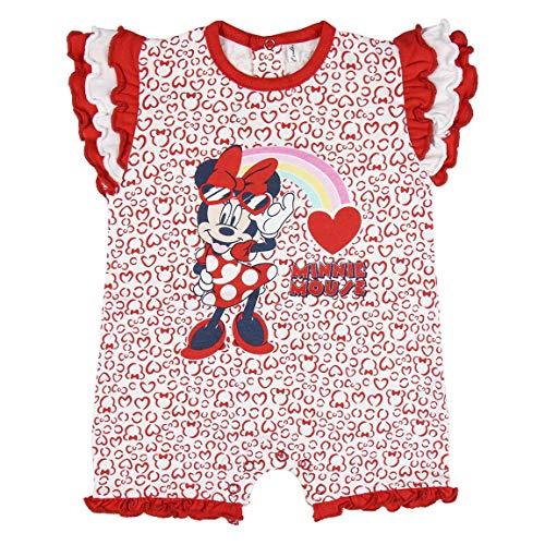 Cerdá Bebe Niña de Disney Minnie Mouse-100% Algodon Pelele, Rosa, 12 Meses para Bebés