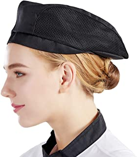 Nanxson(TM Chef Flat Beret Pastry Baker Kitchen Summer Mesh Cooking Works Uniforms Chef Hat Adults CF9021