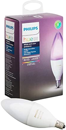 Philips Hue White/Color Ambiance Wireless E14 Candle 6W Dimmable/LED Smart Bulb