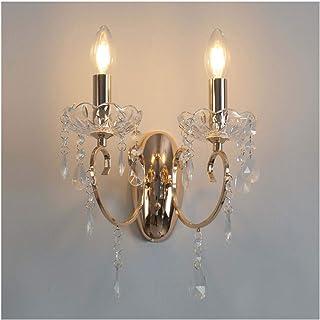 KOSILUM - Applique 2 bras cristal baroque pampilles doré - Pavia - Lumière Blanc Chaud Eclairage Salon Chambre Cuisine Cou...